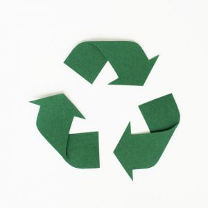 Paper craft design of recycle icon